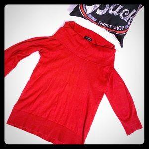 Banana Republic Women's Red Cowl Neck Sweater Sz M